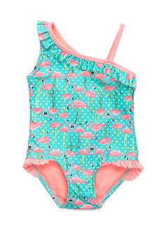 J. Khaki Fancy Flock 1-Piece Swimsuit Toddler Girls