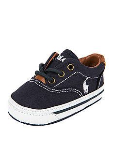 Ralph Lauren Childrenswear Vaughn Navy Canvas Sneaker