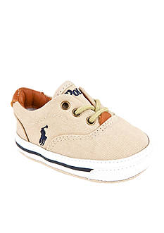 Ralph Lauren Childrenswear Vaughn Beige Canvas Sneaker