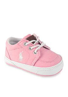 Ralph Lauren Childrenswear Pink Chambray Faxon Sneaker