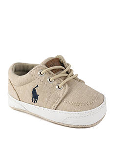 Ralph Lauren Childrenswear Khaki Chambray Faxon Sneaker