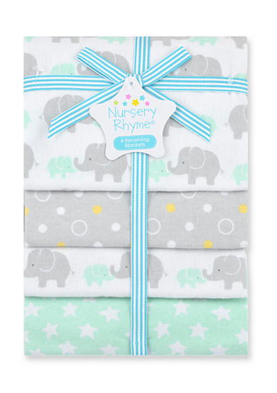 Nursery Rhyme® 4-Pack Flannel Receiving Blankets
