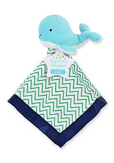 Nursery Rhyme Blue Whale Security Blanket