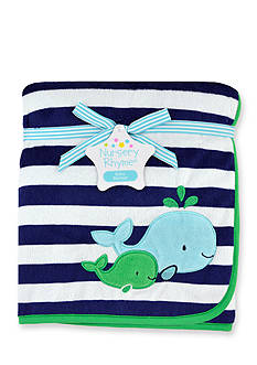 Nursery Rhyme Whale Plush Blanket