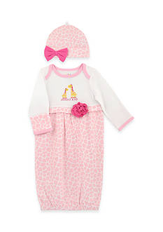 Nursery Rhyme 2-Piece Giraffe Gown and Hat Set