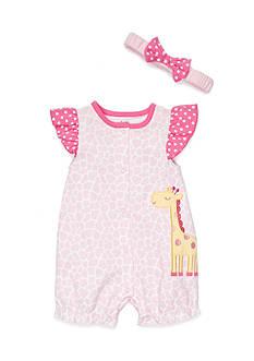 Nursery Rhyme 2-Piece Giraffe Romper And Headband Set