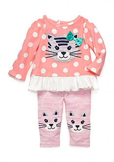 Nursery Rhyme® 2-Piece Cat Tunic and Leggings Set