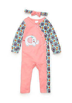 Nursery Rhyme® Elephant Coverall Infant/Baby Girls