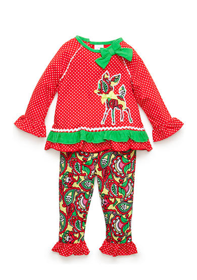 Nursery Rhyme® Long Sleeve Tunic and Paisley Print Legging Set