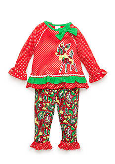 Nursery Rhyme Long Sleeve Tunic and Paisley Print Legging Set