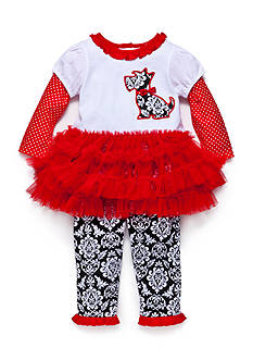 Nursery Rhyme Scottie Puppy Tutu Legging Set