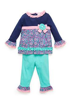 Nursery Rhyme Newborn Girls Paisley Top and Leggings Set