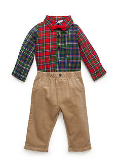 Nursery Rhyme Woven Shirt and Overall Set Infant/Baby Boys
