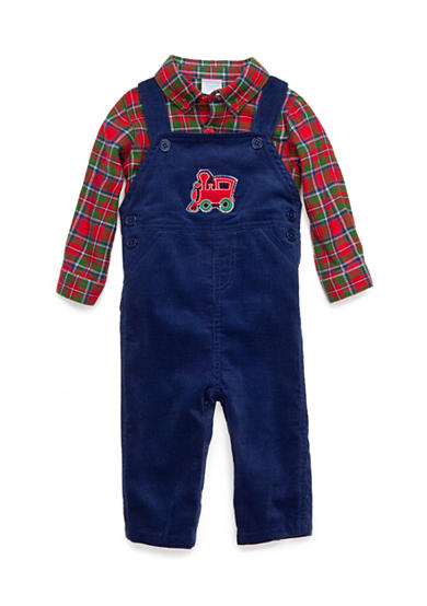 Nursery Rhyme® 2-Piece Train Overall Set Infant/Baby Boys