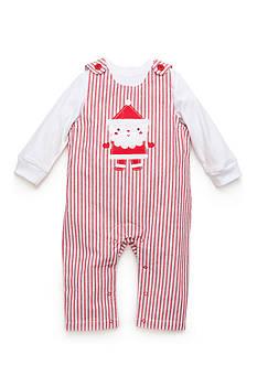 Nursery Rhyme 2-Piece Santa Overall and Shirt Set