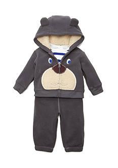 Nursery Rhyme Bear Hoodie, Striped Bodysuit, and Jogger Pants Set Infant/Baby Boys