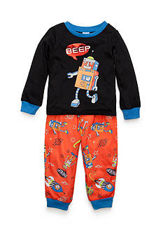 J. Khaki Graphic Robot Pajama Set Toddler Boys