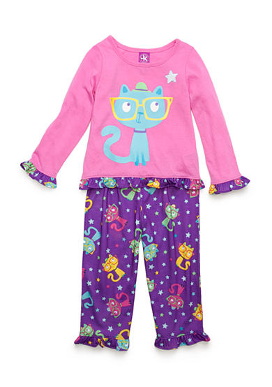 J. Khaki® Graphic Smarty Cat Pajama Set Toddler Girls