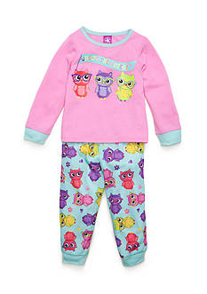 J. Khaki Graphic Owl Pajama Set Toddler Girls