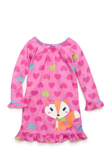 J. Khaki® Graphic Fox Night Gown Toddler Girls