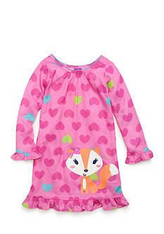 J. Khaki Graphic Fox Night Gown Toddler Girls