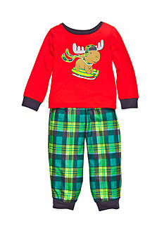 J. Khaki Graphic Moose Pajama Set Toddler Boys