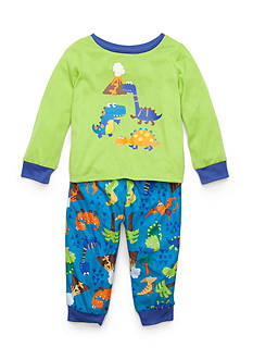 J. Khaki Graphic Dinosaur Pajama Set Toddler Boys