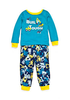 J. Khaki Graphic 'Build Tough' Pajama Set Toddler Boys