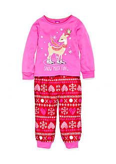 J. Khaki Graphic Pajama Set Toddler Girls