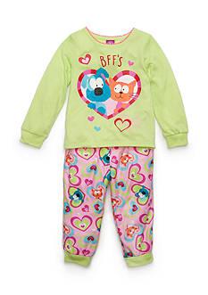 J. Khaki Graphic Best Friend Pajama Set Toddler Girls