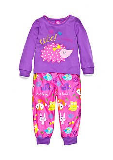 J. Khaki Graphic Hedgehog Pajama Set Toddler Girls