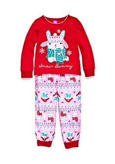J. Khaki Graphic Snow Bunny Pajama Set Toddler Girls