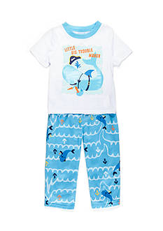 J. Khaki 2-Piece Little Trouble Maker Pajama Set Toddler Boys
