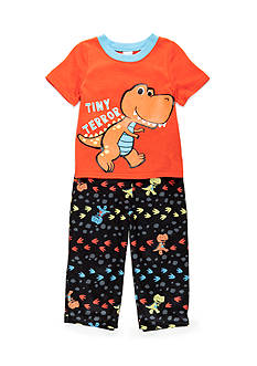 J. Khaki 2-Piece Dinosaur Pajama Set Toddler Boys