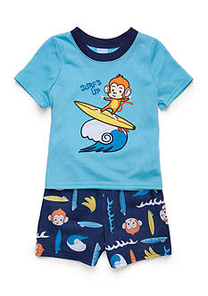 J. Khaki 2-Piece Surfing Monkey Pajama Set Toddler Boys