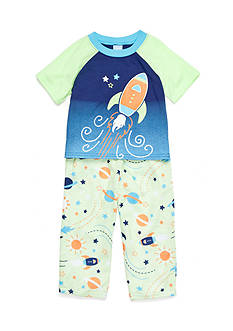 J. Khaki Space Pajamas 2-Piece Set Toddler Boys