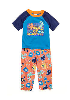 J. Khaki 'Beware of Monsters' Pajamas 2-Piece Set Toddler Boys