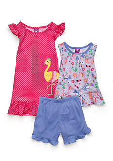 J. Khaki 3-Piece Flamingo Pajama Set Toddler Girls