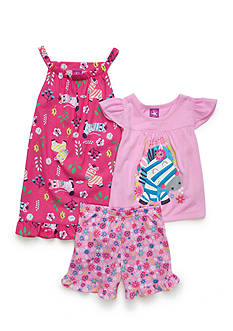 J. Khaki 3-Piece Zebra Pajama Set Toddler Girls