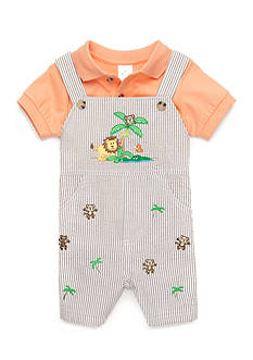 Nursery Rhyme® 2-Piece Seersucker Shortall Set