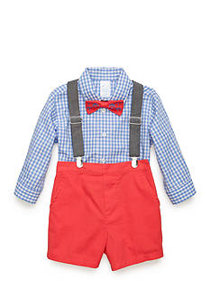 Nursery Rhyme 4-Piece Shirt, Bow Tie, Suspenders, and Short Set