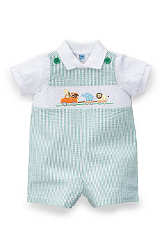 Nursery Rhyme® Smocked Shortall Two Piece Set