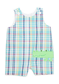 Nursery Rhyme® Alligator Plaid Shortall