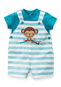 Nursery Rhyme® 2-Piece Monkey Shirt and Shortall Set