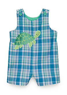 Nursery Rhyme® Plaid Turtle Overalls