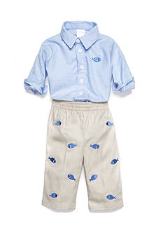 Nursery Rhyme® 2-Piece Chambray Bodysuit and Pant Set