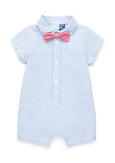 Nursery Rhyme 2-Piece Seersucker Romper and Bow Tie Set