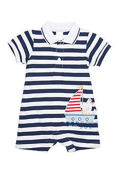 Nursery Rhyme® Sailboat Applique Polo Romper
