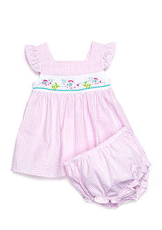 Nursery Rhyme® 2-Piece Smocked Fish Dress and Bloomer Set