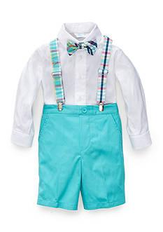J. Khaki 2-Piece Suspender Short Set Toddler Boys